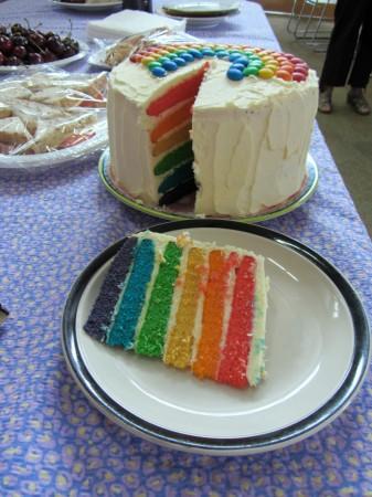 midsumma 14 rainbow cake
